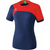 Erima Club 1900 2.0 T-Shirt Dames - New Navy / Rood