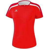 Erima Liga 2.0 T-shirt Dames - Rood / Donkerrood / Wit