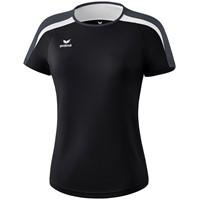 Erima Liga 2.0 T-shirt Dames - Zwart / Wit / Donkergrijs