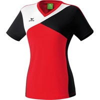 Erima Premium One T-shirt Dames - Rood / Zwart / Wit