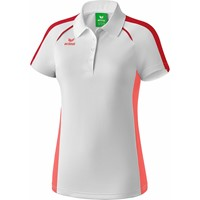 Erima Masters Polo Dames - Wit / Hot Coral