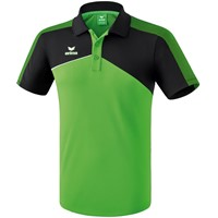 Erima Premium One 2.0 Polo Kinderen - Green / Zwart / Wit