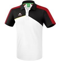 Erima Premium One 2.0 Polo - Wit / Zwart / Rood / Geel