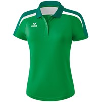 Erima Liga 2.0 Polo Dames - Smaragd / Evergreen / Wit
