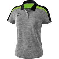 Erima Liga 2.0 Polo Dames - Grey Melange / Zwart / Green Gecco
