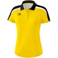 Erima Liga 2.0 Polo Dames - Geel / Zwart / Wit