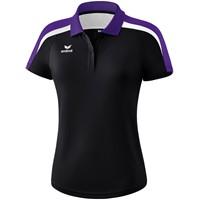 Erima Liga 2.0 Polo Dames - Zwart / Donker Violet / Wit
