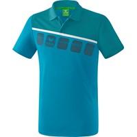 Erima 5-C Polo - Oriental Blue / Colonial Blue / Wit