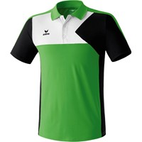 Erima Premium One Polo - Green / Zwart / Wit
