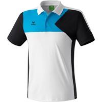 Erima Premium One Polo - Wit / Zwart / Curacao