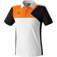 Erima Premium One Polo - Wit / Zwart / Neon Oranje