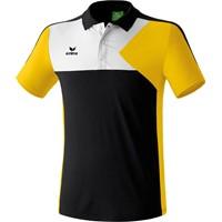 Erima Premium One Polo - Zwart / Geel / Wit
