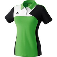 Erima Premium One Polo Dames - Green / Zwart / Wit