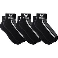 Erima 3 Paar Korte Sokken - Zwart