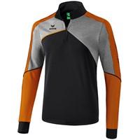 Erima Premium One 2.0 Trainingstrui Kinderen - Zwart / Grey Melange / Neon Oranje