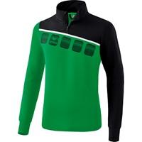 Erima 5-C Trainingstrui - Smaragd / Zwart / Wit