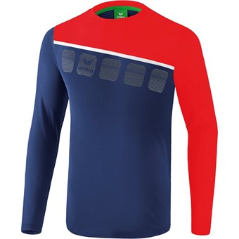 Picture of Erima 5-C Longsleeve - New Navy / Rood / Wit