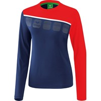 Erima 5-C Longsleeve Dames - New Navy / Rood / Wit