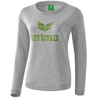 Erima Essential Sweatshirt Dames - Licht Grey Melange / Twist Of Lime