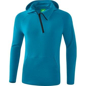 Picture of Erima Essential Sweatshirt Met Capuchon - Oriental Blue / Oriental Blue Melange