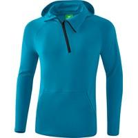 Erima Essential Sweatshirt Met Capuchon - Oriental Blue / Oriental Blue Melange