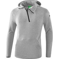 Erima Essential Sweatshirt Met Capuchon Kinderen - Licht Grey Melange / Zwart