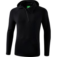 Erima Essential Sweatshirt Met Capuchon Kinderen - Zwart / Grijs