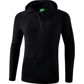 Picture of Erima Essential Sweatshirt Met Capuchon - Zwart / Grijs
