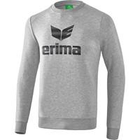 Erima Essential Sweatshirt Kinderen - Licht Grey Melange / Zwart