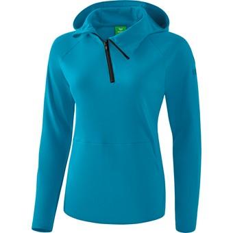 Picture of Erima Essential Sweatshirt Met Capuchon Dames - Oriental Blue / Colonial Blue