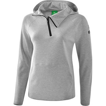 Picture of Erima Essential Sweatshirt Met Capuchon Dames - Licht Grey Melange / Zwart