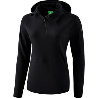 Picture of Erima Essential Sweatshirt Met Capuchon Dames - Zwart / Grijs