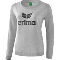 Erima Essential Sweatshirt Dames - Licht Grey Melange / Zwart