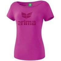 Erima Essential T-shirt Kinderen - Fuchsia / Purple Potion
