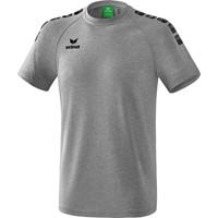 Erima Essential 5-C T-shirt Kinderen - Grey Melange / Zwart
