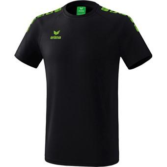 Picture of Erima Essential 5-C T-shirt Kinderen - Zwart / Green Gecco