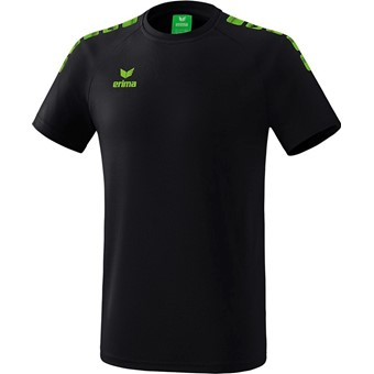 Picture of Erima Essential 5-C T-shirt - Zwart / Green Gecco