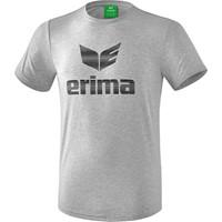 Erima Essential T-shirt - Licht Grey Melange / Zwart