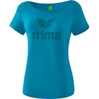 Erima Essential T-shirt Dames - Oriental Blue / Colonial Blue