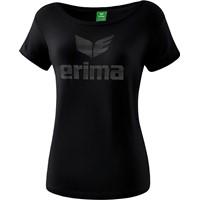 Erima Essential T-shirt Dames - Zwart / Grijs