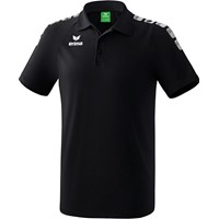 Erima Essential 5-C Polo - Zwart / Wit