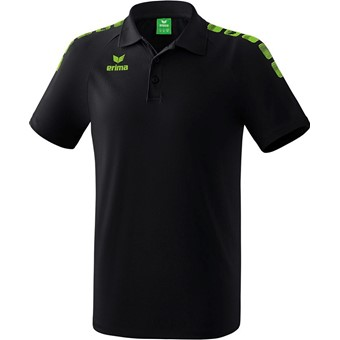 Picture of Erima Essential 5-C Polo - Zwart / Green Gecco