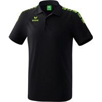 Erima Essential 5-C Polo - Zwart / Green Gecco