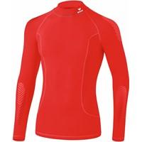 Erima Elemental Longsleeve Shirt Opstaande Kraag - Rood