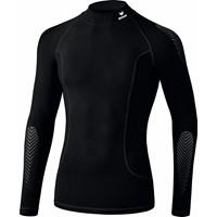 Erima Elemental Longsleeve Shirt Opstaande Kraag - Zwart