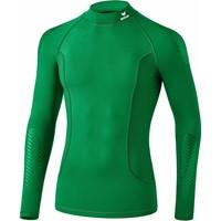 Erima Elemental Longsleeve Shirt Opstaande Kraag Kinderen - Smaragd