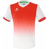 Erima Leeds Shirt Korte Mouw - Wit / Rood