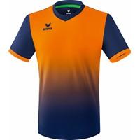 Erima Leeds Shirt Korte Mouw - New Navy / Neon Oranje