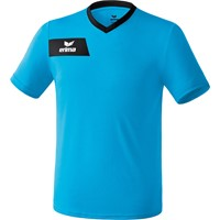 Erima Porto Shirt Korte Mouw Kinderen - Curacao / Zwart
