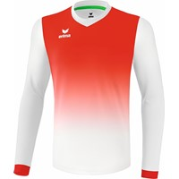Erima Leeds Voetbalshirt Lange Mouw - Wit / Rood